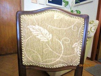 Обивка стула декоративными гвоздиками
