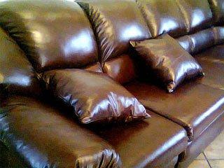 Перетяжка кожаной мягкой мебели